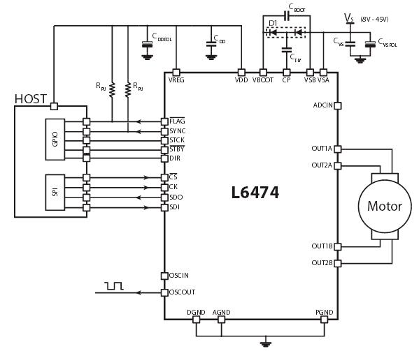 включения драйвера L6474